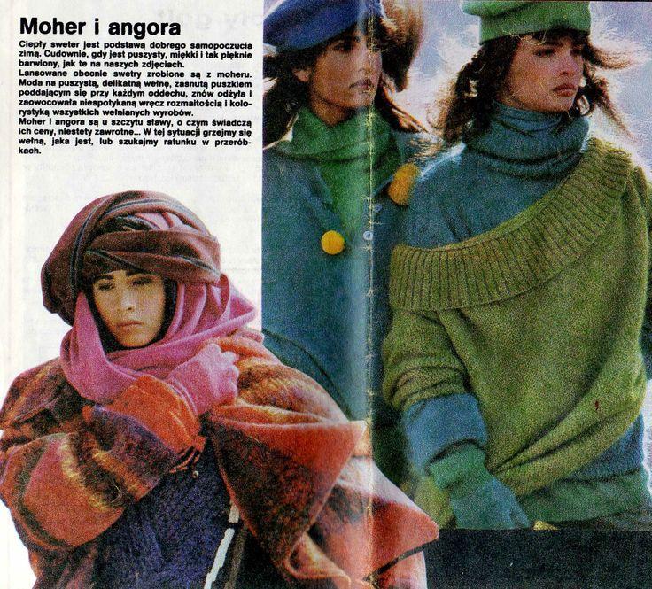 """From """"tylko dla ciebie"""" wydawnictwo specjalne """"ŚWIATA MODY"""" nr 2 '1988  models reprint from Brigitte, Elle, Freundin, Fur Sie, Grazia."""