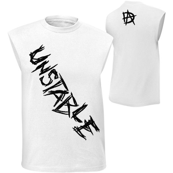 """Dean Ambrose """"Unstable"""" Muscle T-Shirt ❤ liked on Polyvore featuring tops, wwe, dean ambrose, cotton jersey, stitched jerseys, muscle t shirts, muscle tshirt and jersey top"""