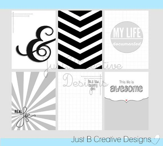 Real Life Project Life Printables