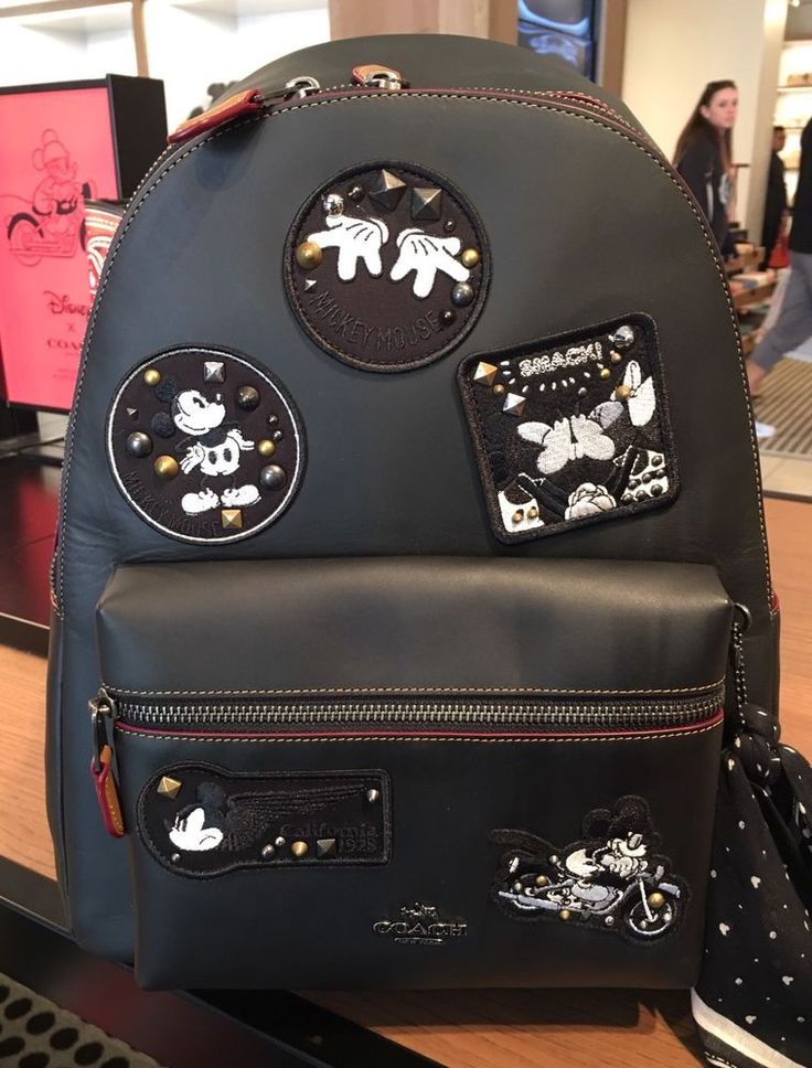 NWT NEW COACH CHARLIE BACKPACK IN GLOVE CALF LEATHER WITH MICKEY DISNEY Patch #Coach #BackpackStyle