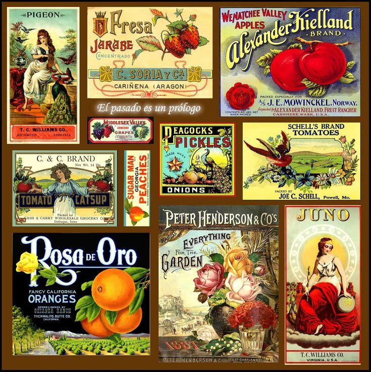 Free vintage labels                                                                                                                                                     Más