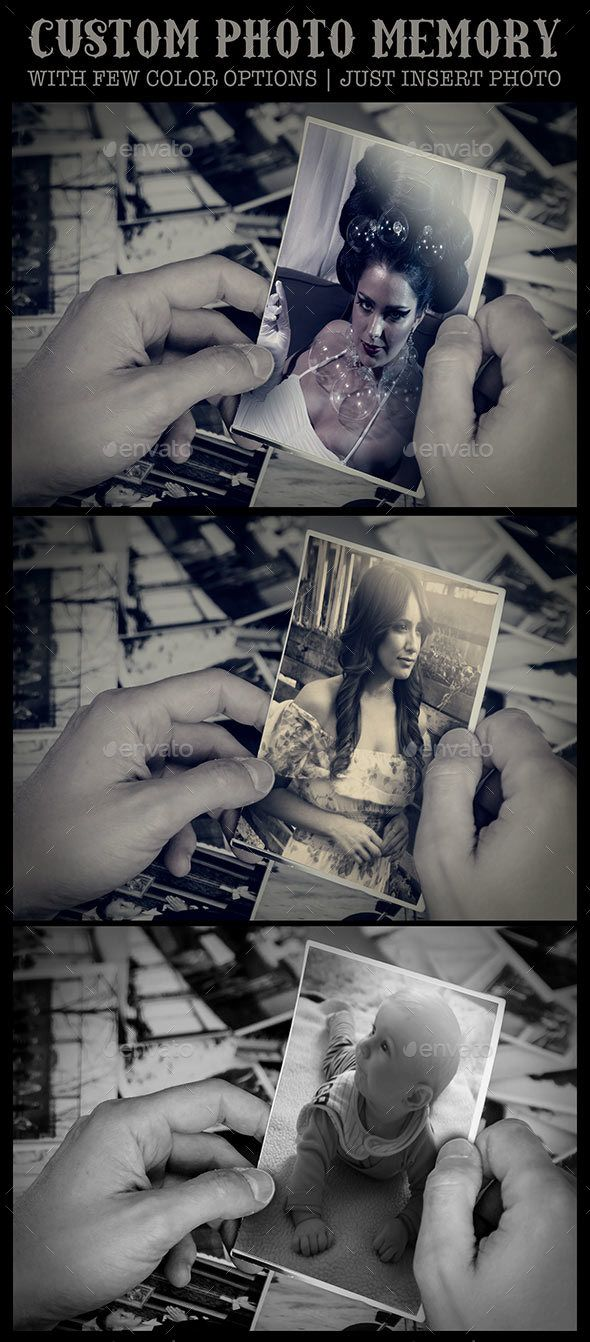 Custom Photo Memories #customphotocard #graphicriver #envato