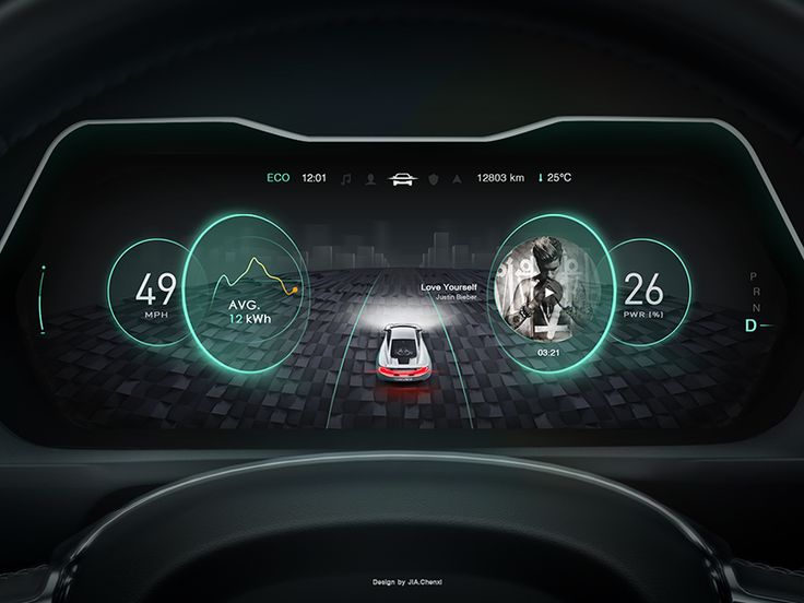 new design in car dashboard no 3 cars car ui and ui design