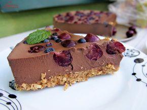 zdrowe czekoladowe ciasto na zimno
