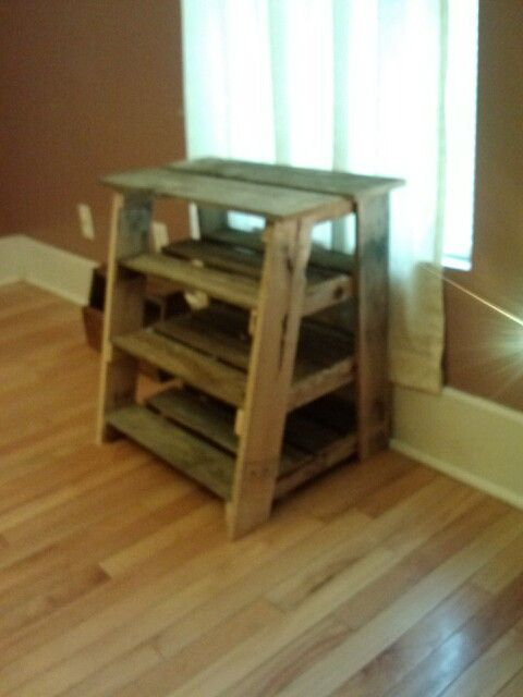 Ladder Shaped Shoe Rack Made From Pallet Wood My Wood