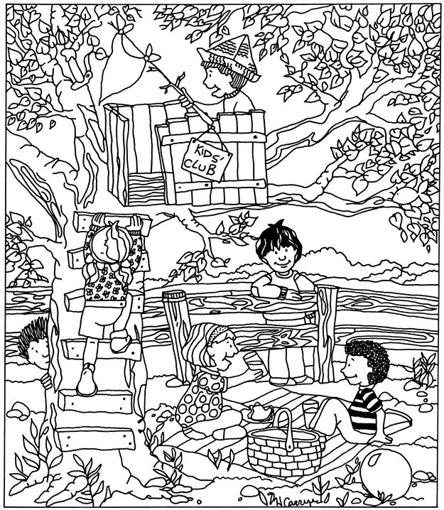 printable hidden picture puzzle coloring page printable