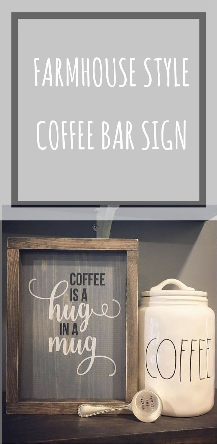 The coffee jar #coffeebar #kitchen #sign