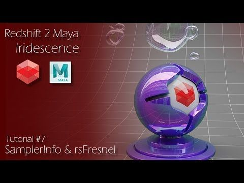 Redshift 2 Maya - Tutorial #7 - Iridescence - Samplerinfo and rsFresnel Nodes - YouTube