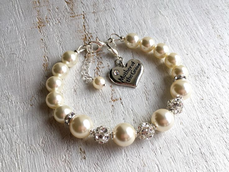 Mother-of-the-Groom Gift Mother-of-the-Groom Bracelet Mother-in-Law Gift from Bride Mother Wedding Gift from Groom Swarovski Pearl Bracelet by ThreeMineBlessings on Etsy https://www.etsy.com/listing/274178828/mother-of-the-groom-gift-mother-of-the