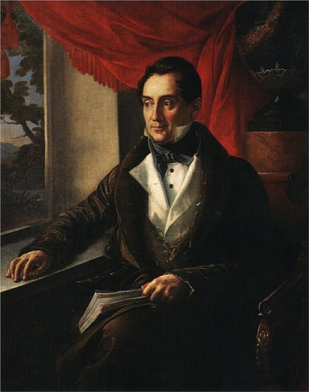 Portrait of P. N. Zubov, 1839 Vasily Tropinin