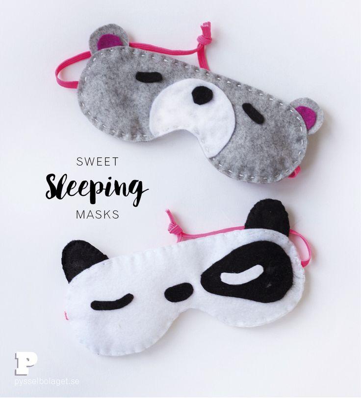 DIY Cute Sleeping Masks Tutorial