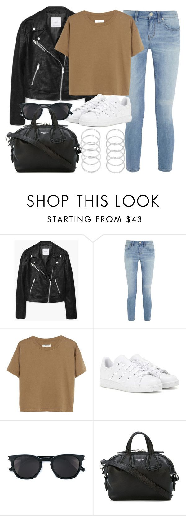 """""""Style #11364"""" by vany-alvarado ❤ liked on Polyvore featuring MANGO, Madewell, adidas, Yves Saint Laurent and Givenchy"""