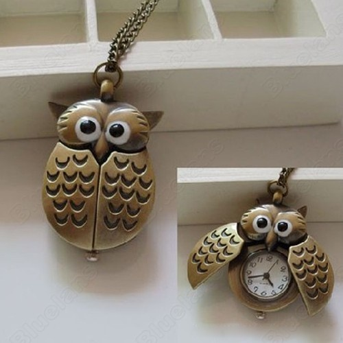Discount China china wholesale Vintage Bronze Retro Slide Smart Owl Pocket Pendant Long Necklace Watch [6694] - US$5.45 : DealsChic