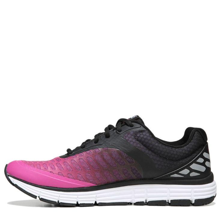 Ryka Women's Indigo Medium/Wide Running Shoes (Black/Pink)