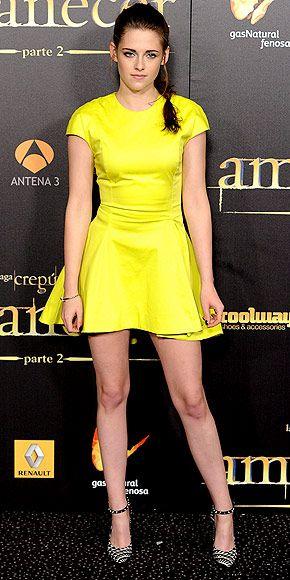 Kristen Stewart in Christian Dior at 'Twilight Saga: Breaking Dawn Part 2′ Premiere in Madrid