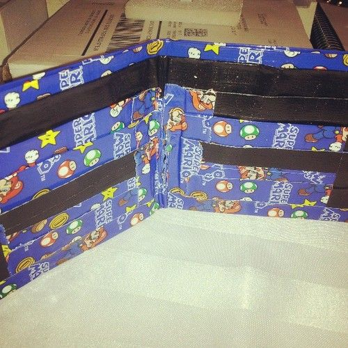 Super Mario Duct Tape Bifold Wallet With Two Cash Pockets