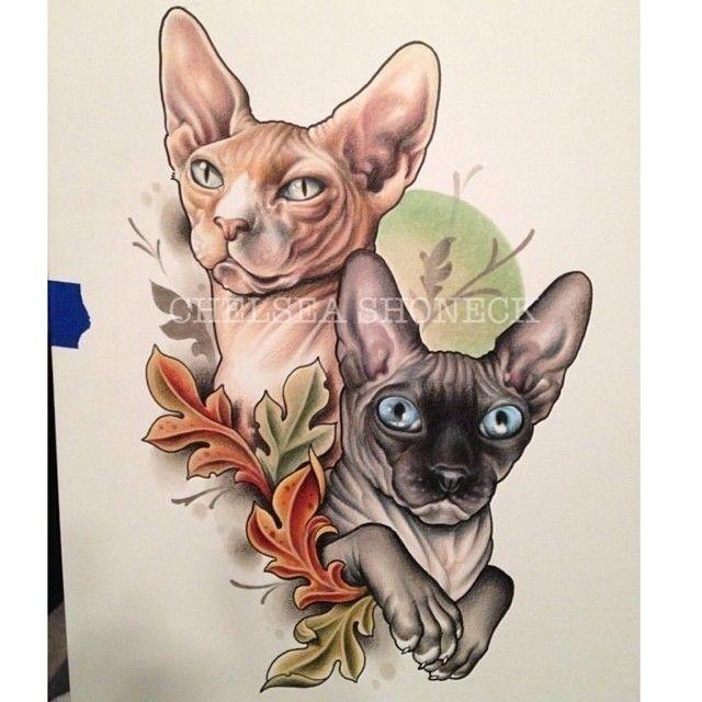 Chelsea shoneck sphynx tattoo pinterest best chelsea for Hairless cat tattoo