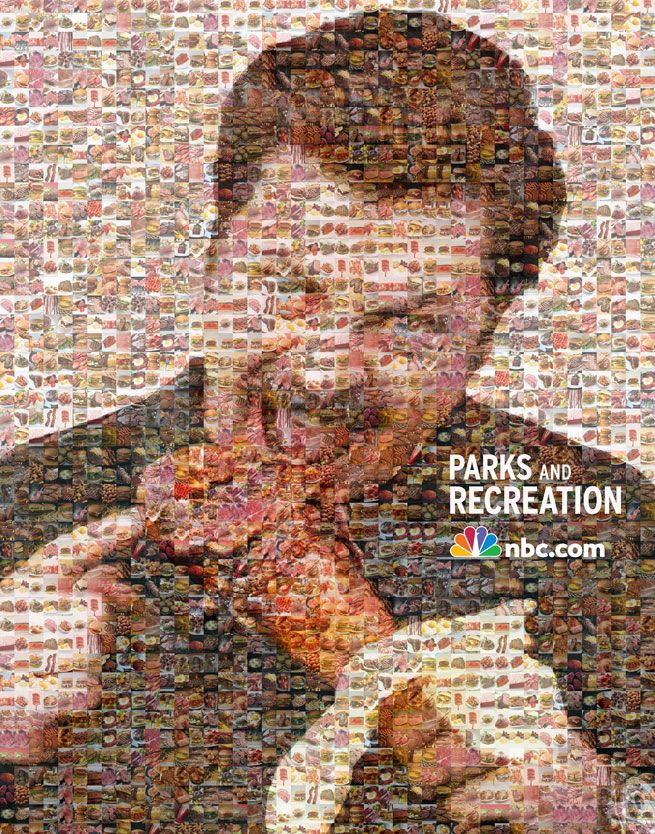 That's a whole lotta awesome. #RonSwanson: Mosaics Parksandrec, Parks And Recreation, Eggs, Heroes, Pictures, Ron Swanson Meat Mosa, Funny Stuff, Meat Mosaics, Ronswanson