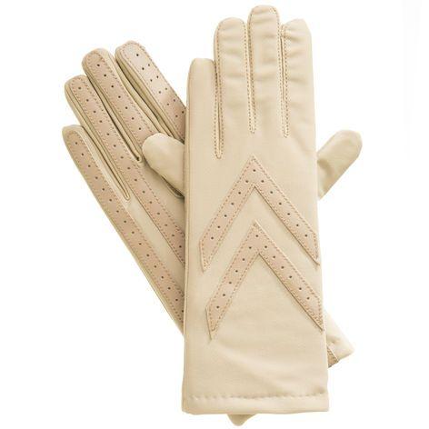 Spandex Chevron Thinsulate Gloves, Camel