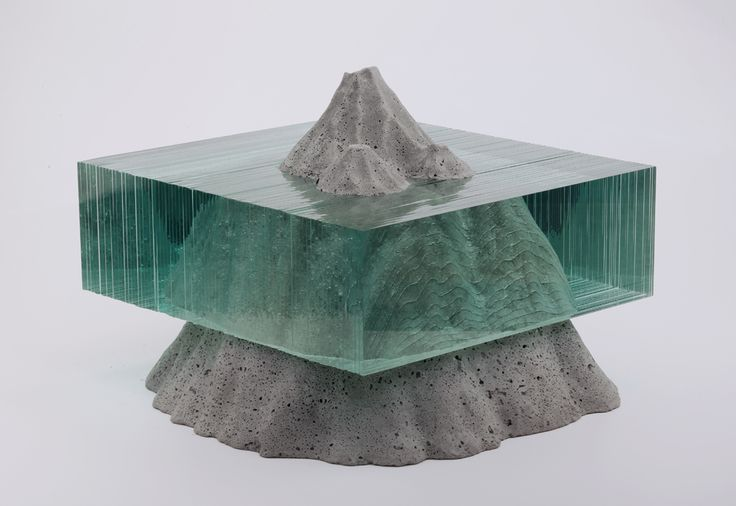 "1-34: ""Laminated clear float glass with cast concrete. By Ben Young """