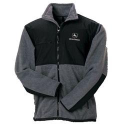 John Deere Charcoal Fleece jacket