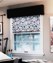 make your own fabric-covered roller blind