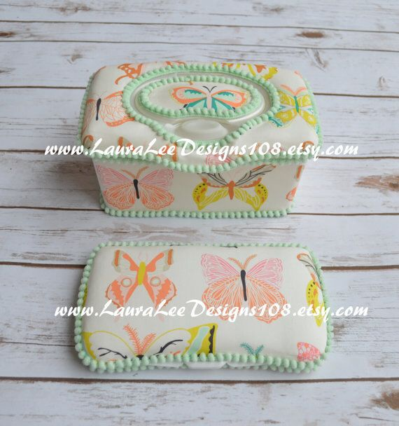 Set of 2, Large Nursery Wipe Case and Travel Baby Wipe Case, Aztec Butterflies, Butterfly, Baby Shower Gift Set, Large and Small Wipe Case by LauraLeeDesigns108 on Etsy https://www.etsy.com/listing/461758218/set-of-2-large-nursery-wipe-case-and