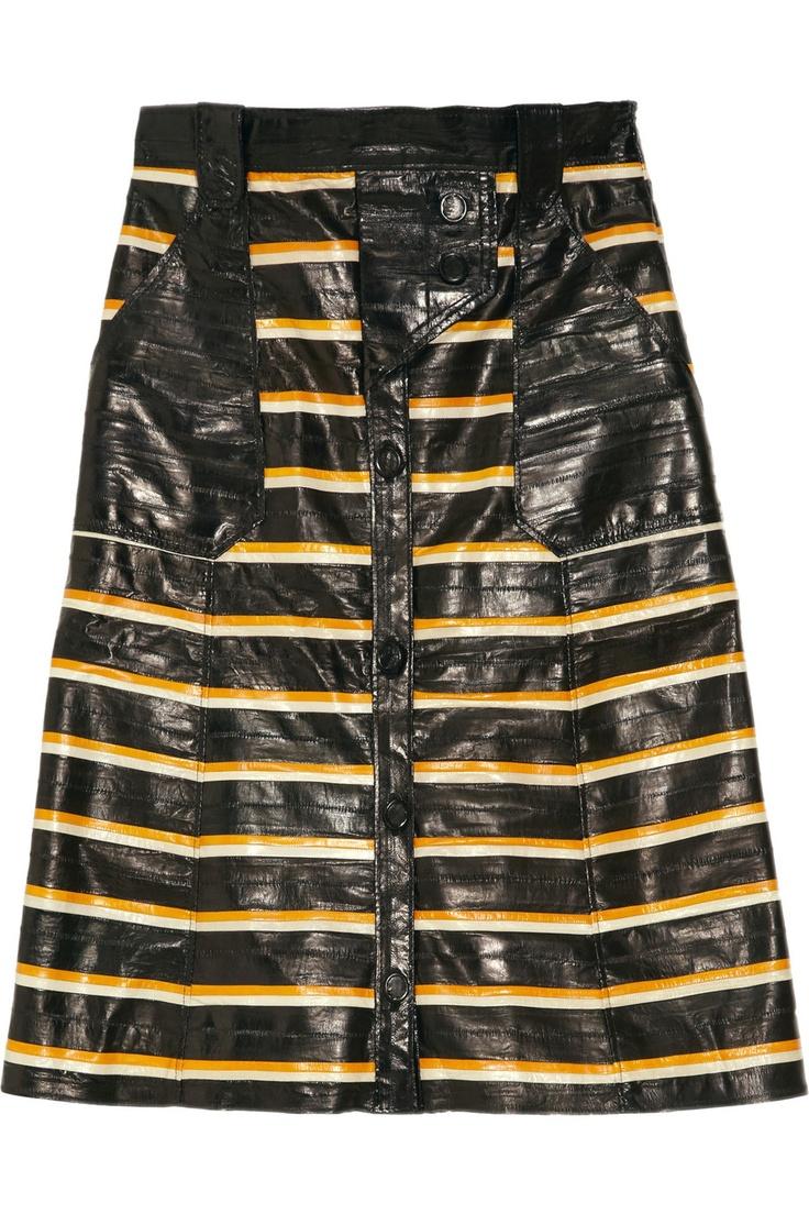Proenza Schouler eel skirtProenza Schouler, Eel Appeal, Schouler Leather, Leather Stripes, Stripes Skirts, Appeal Proenzaschoul, Schouler Stripes, Proenzaschoul Netaporter, Eel Skin