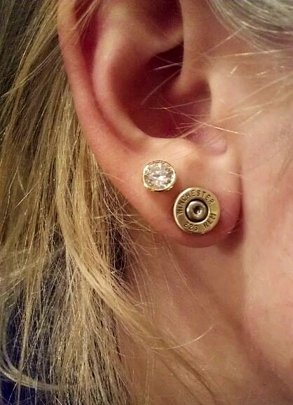 Winchester stud earrings.
