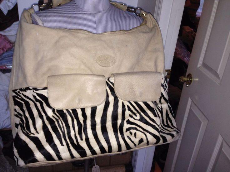 terrida made in italy khaki off white black zebra pony hair and leather weekende #terrida #weekenderbag