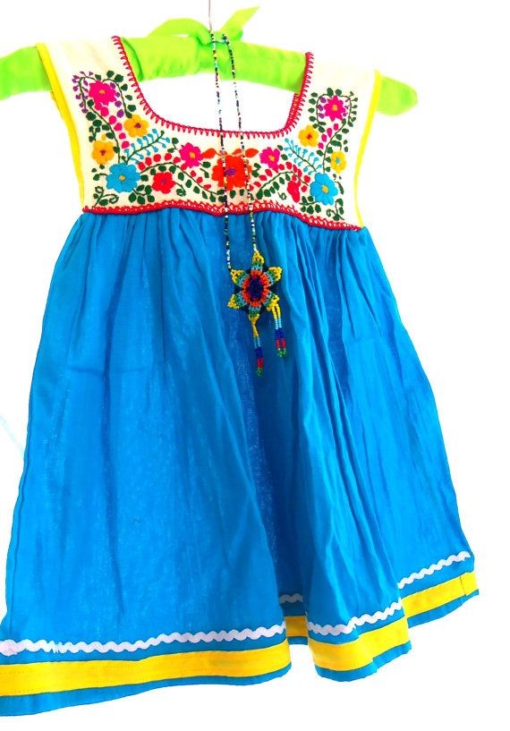 Amanda Mexican Handmade Embroidered Cotton by elizabethpalmer, $45.00