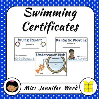 Swimming certificates. Save time by just getting these - so many to choose from and they come in two sizes!
