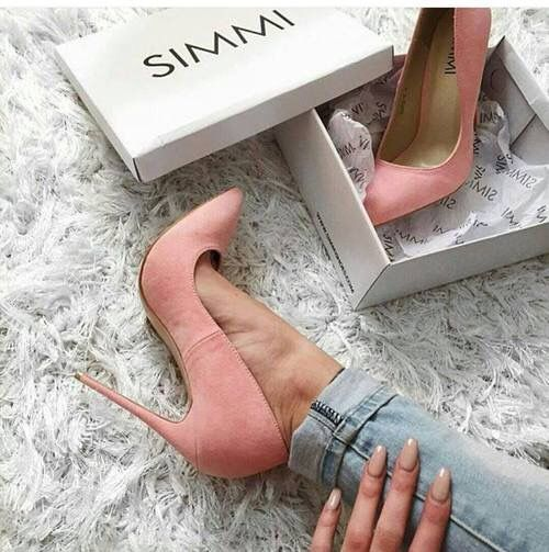 High heels pink simmi shoes