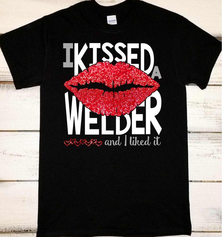 Welder Wife Shirt, Proud Welder's Wife, I Love My Welder, Welder Tshirts, Gifts for a Welder, Pipeline Welder, Gifts for Her, Welding Shirts by AshleysCustomApparel on Etsy https://www.etsy.com/listing/261504960/welder-wife-shirt-proud-welders-wife-i