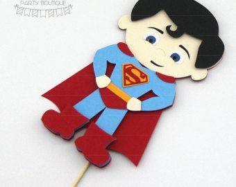 la torta de Superman | superhéroe inspirado en superman de dc comics