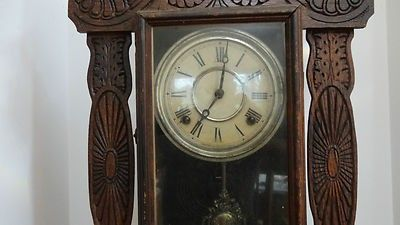 Gingerbread Clock E Ingraham Clock Co Bristol Conn | #432023755