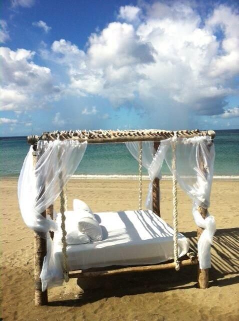 A day bed worth dreaming about at @Mandy Dewey Seasons Resort Nevis, West Indies. #LuxBride