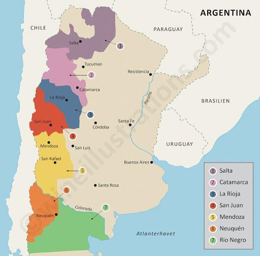 Best Les Vins Argentins Argentinian Wines Images On - Argentina map for sale