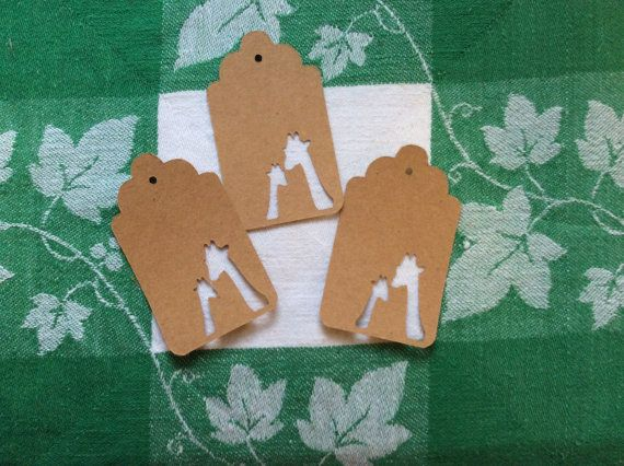 Die Cut Giraffe Heads Tag by NatureCuts on Etsy
