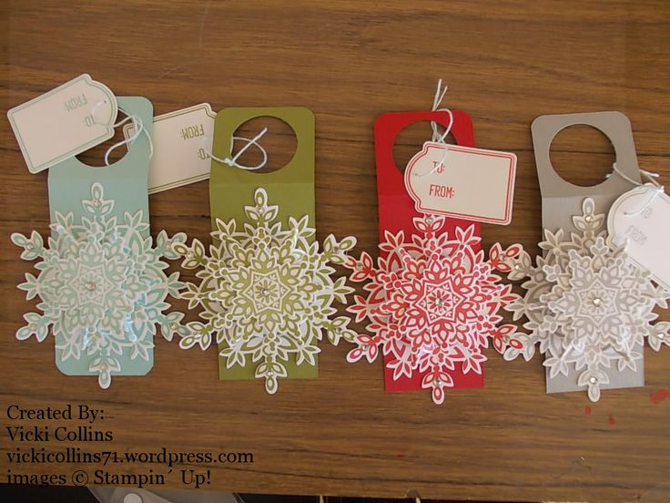 Stampin' Up! Wine Bottle Christmas Tags