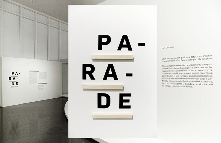 Centre Pompidou Metz / Signage and set up of Parade's exhibition / Les Graphiquants