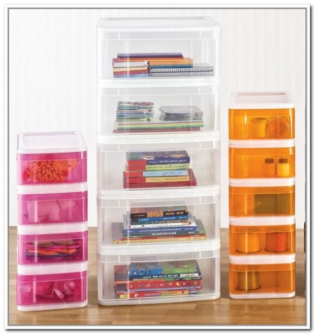 For that random space bewteen your fridge and your bed, place stackable drawers in between them!