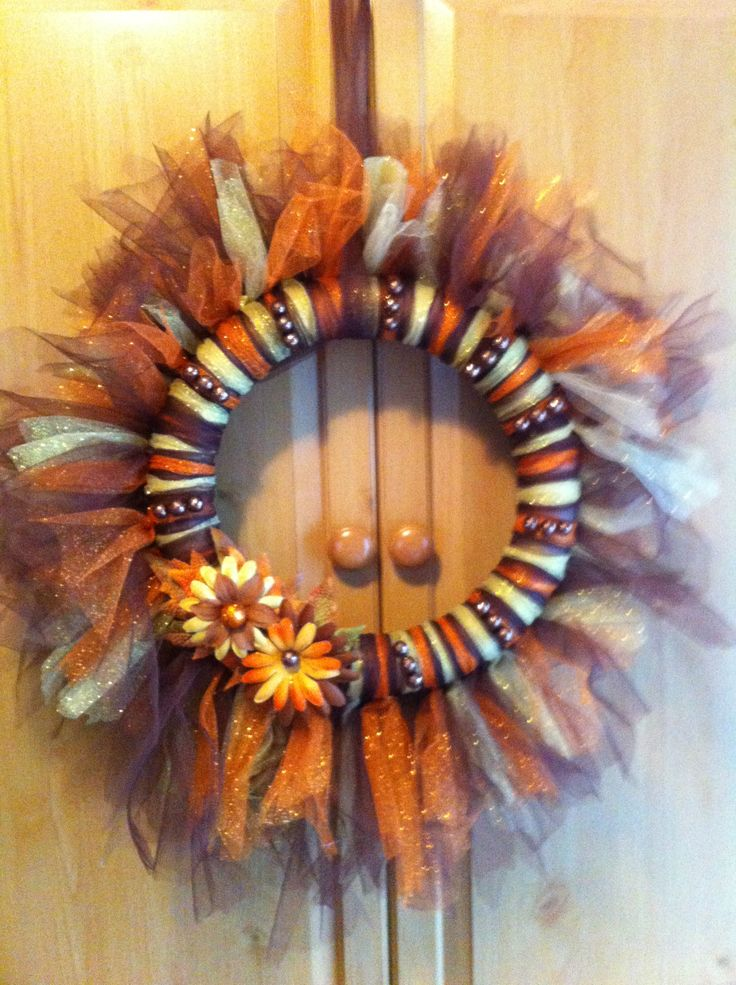 Easy fall tulle wreath