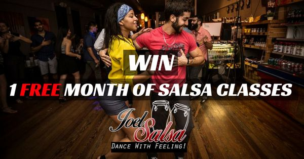 Enter a raffle to win 1 Free Month of Unlimited Salsa Classes at @JoelSalsa Dance School in New York City (valued $135). #joelsalsa