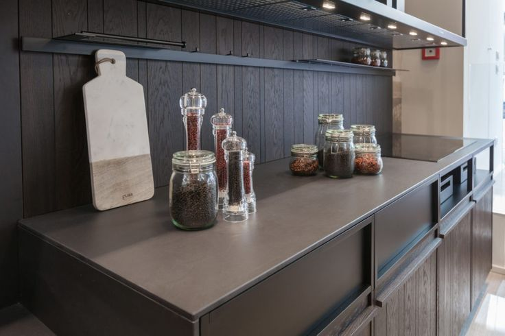 This #Dekton Domoos countertop is ready for cooking delicious recipes on it! #kitchen #design