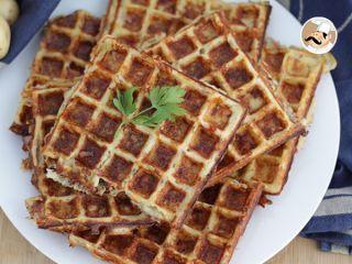 Waffles de batata com bacon e queijo, Foto 2