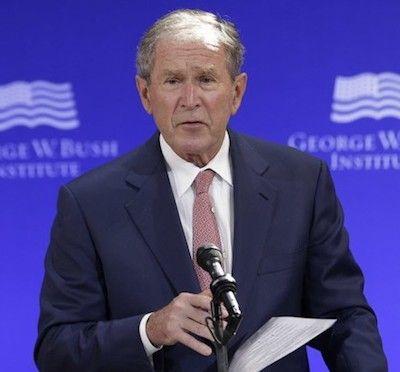 Is GW Bush channeling John McCain?