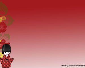 Plantilla PowerPoint de Japonesa es un diseño de PowerPoint sencillo inspirado en la tradición japonesa que tiene una ilustración de una chica japonesa en la diapositiva de PowerPoint #japon #mundo #cultura