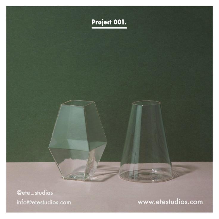 Project 001  #etestudios #vase #glass #marble #copper