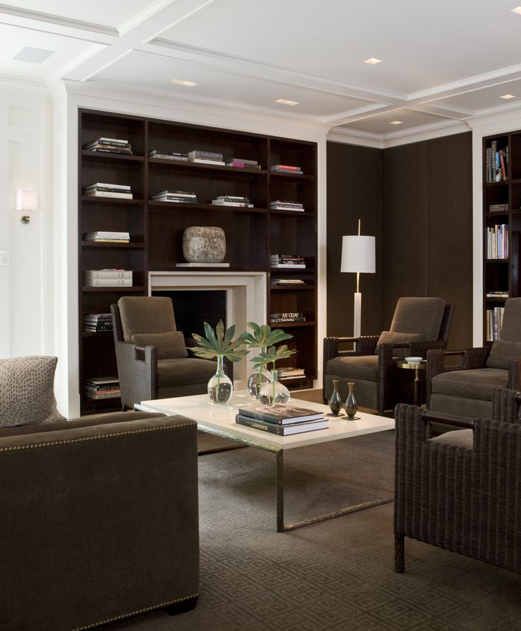 Living Room - Rich browns set in a sophisticated styling......(re-pinned photo - Thomas Pheasant)